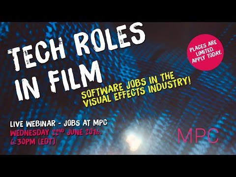 MPC Talent: Tech Roles In Film