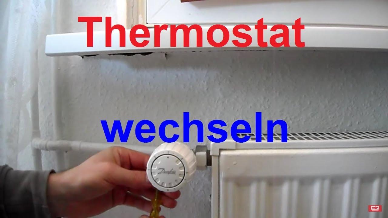 Thermostat Heizung wechseln erneuern Heizungsthermostat auswechseln ...