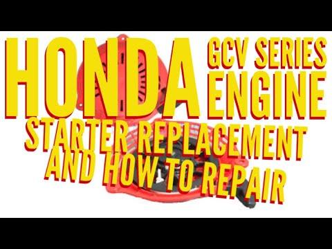 HONDA LAWN MOWER /  HRX / HRR / GCV SERIES ENGINE STARTER REPLACE AND REPAIR