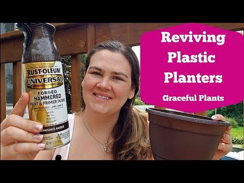 Plastic Planter That Look Like Metal | Quick DIY | Graceful Plants