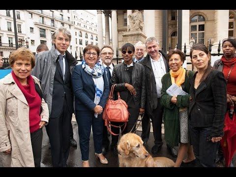 Lancement de la 4ème semaine du chien guide et apposition du premier pictogramme