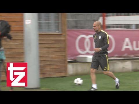Pep Guardiola: Training mit Manchester City beim FC Bayern - Luftküsse statt Autogramme