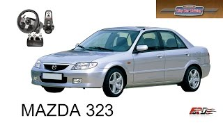 MAZDA 323 Familia тест-драйв, обзор, автомобили девяностых City Car Driving