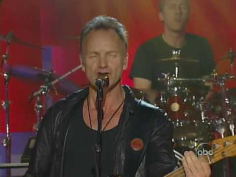 sting live - spirits in the material world (jimmykimmel show 2005)