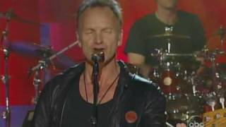 sting live - spirits in the material world (jimmy  kimmel show 2005)