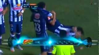 Angel Reyna, segunda celebración al estilo Místico, Monterrey vs Queretaro - Festejos de goles