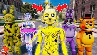 BRAND NEW GOLDEN ENNARD ANIMATRONIC!! (GTA 5 Mods For Kids FNAF RedHatter)