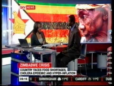 Mugabe says Zim is mine: Lance Guma on Sky News (Dec 08)