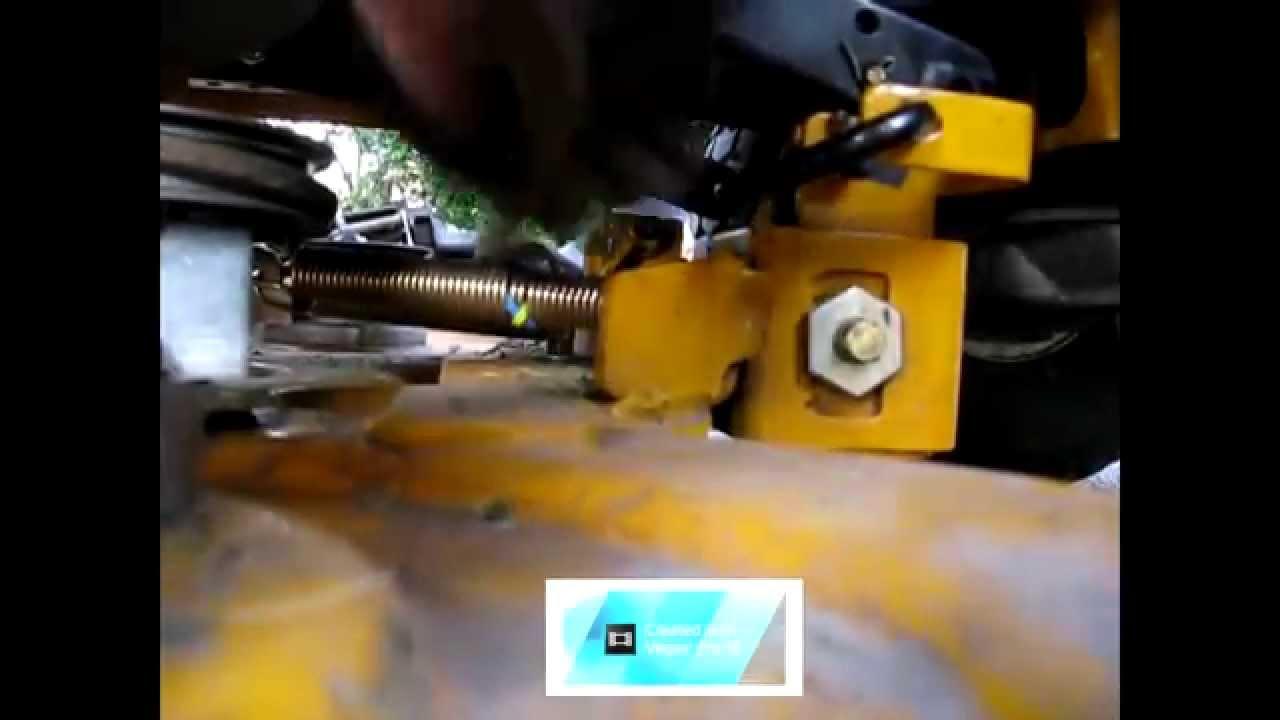 Cub Cadet Mower Belt (ing off) Deck Fix LT 1045 Part 2  YouTube