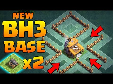 NEW BUILDER HALL 3 BASE with 2 CANNONS ♦ BEST CoC BH3 Trophy Base | Clash of Clans