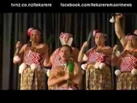 Australian kapa haka competition groups performing Te Karere TVNZ 14 Jun 2010.wmv