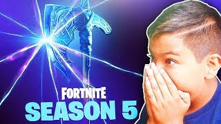 🔴WORLDS FIRST FORTNITE PLAYER TO UNLOCK SEASON 5 BATTLE PASS TIER 100!!! | (Fortnite BR Gameplay)