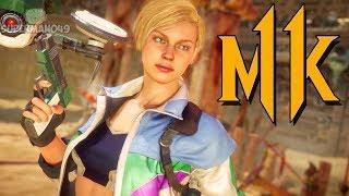 "Klassic Cassie Gets A Secret Stage Brutality - Mortal Kombat 11: ""Cassie Cage"" Gameplay"