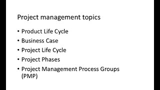 The basics of good project management - Project life cycle 1 of 2