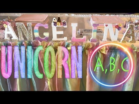 UNICORN ALPHABET LETTER DECOR | CRAFT DIY | Cup n Cakes Gourmet