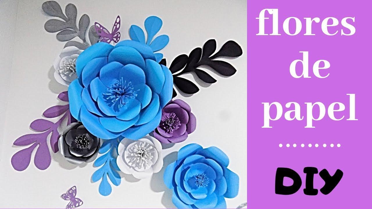 Como Hacer Flores Gigantes De Papel En 5 Minutos Fácil Diy
