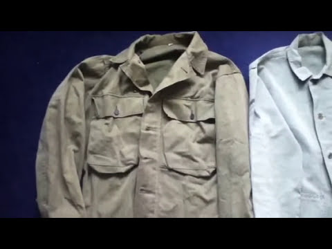 World War Two US Army 2nd Pattern HBT Set And A USMC Jacket