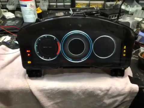 "Cadillac 12"" Digital Cluster on Bench"