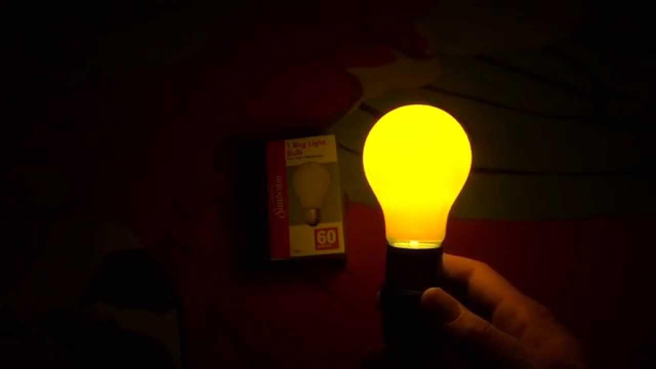Sunbeam 60watt Bug Light Yellow Bulbs