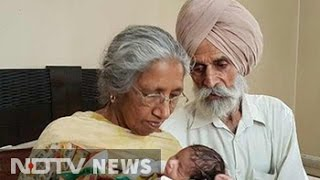 70 year old woman in punjab gives birth to first baby