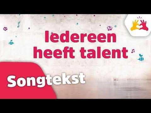 Kinderen voor Kinderen - Iedereen heeft talent (songtekst)