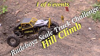 RC CWR Hill Climb Rudeboyz 2016 Scale Truck Challenge Part 1 of 6