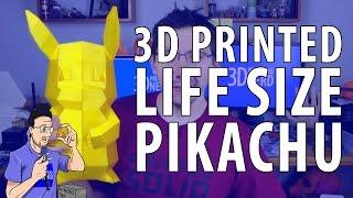 3D Printed Life Size Pikachu Pokemon