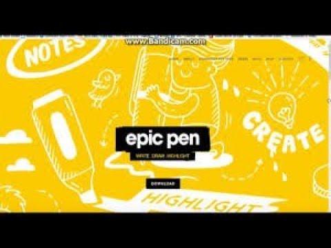 Windows üstüne çizme Ve Boyama Programı Epic Pen Nasıl Indirilir