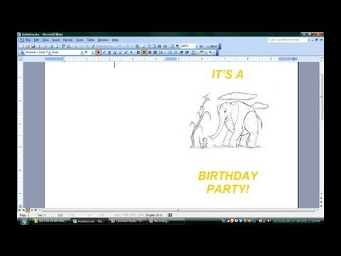 How To Make Folded Invitations With Microsoft Word : Microsoft Office  Software  How To Make A Birthday Invitation On Microsoft Word