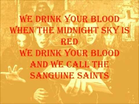 Powerwolf - We drink your blood (Lyrics)