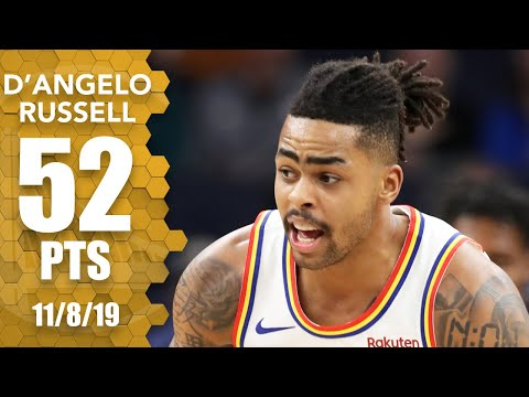 D'Angelo Russell scores career-high 52 in Warriors-Wolves OT thriller