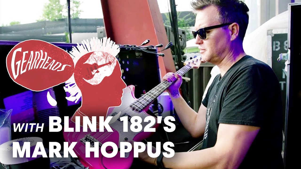 Blink 182s Mark Hoppus Shows Off The Basses He Tours With