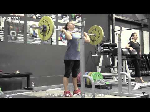Push Press - Olympic Weightlifting Exercise Library - Catalyst Athletics