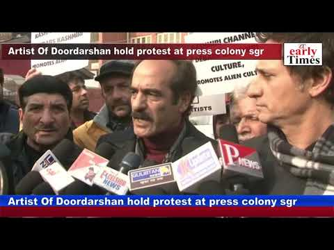 Artist Of Doordarshan hold protest at press colony sgr