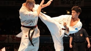 THE 10th WORLD KARATE CHAMPIONSHIP Men 3rd round Aleksey Kasatonov ...