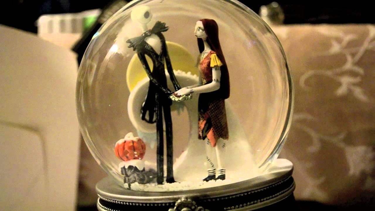 Jack and Sally Snow Globe - YouTube