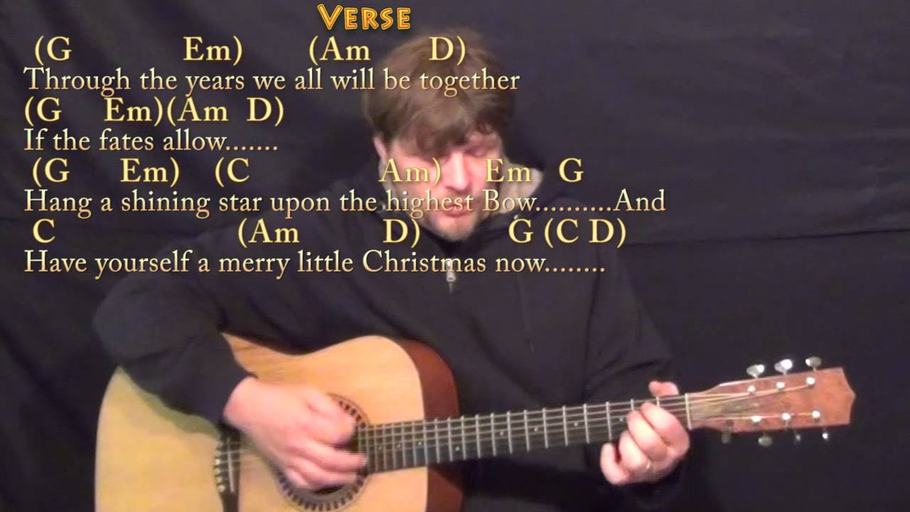 Have Yourself A Merry Little Christmas Christmas Strum Guitar