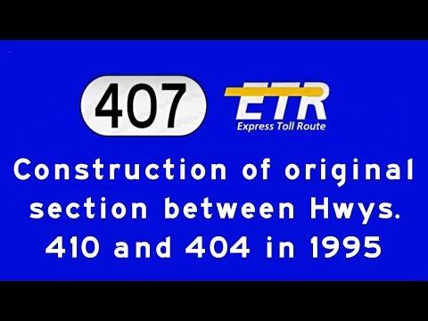 Highway 407-ETR construction in 1995
