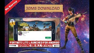 fortnite Lite Android Download | 30 Mb Download | 1000% Genuine Game