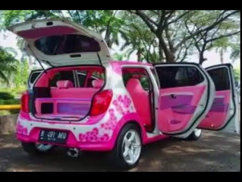 modifikasi mobil helo kitty