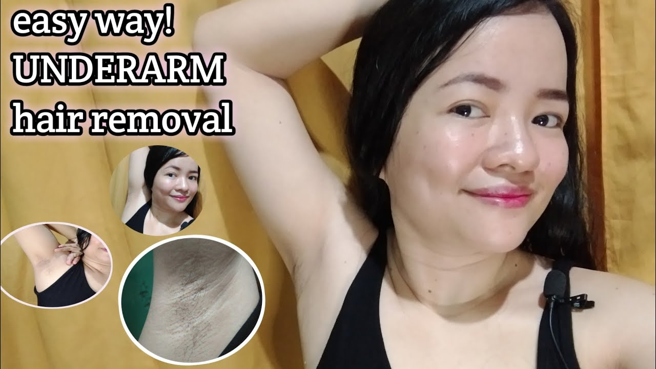 How to remove hair on Underarm | Easy way  Underarm hair removal | memarz