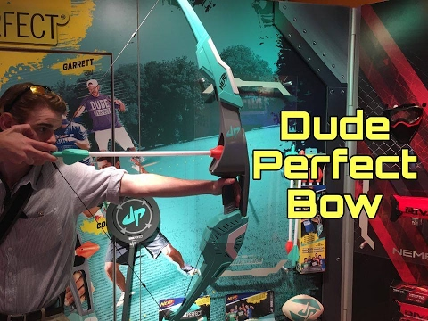 Nerf DudePerfect Bow | Toy Fair Demo & Analysis | Doovi