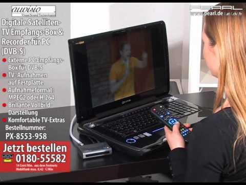 auvisio digitale satelliten tv empfangs box recorder f r pc dvb s youtube. Black Bedroom Furniture Sets. Home Design Ideas