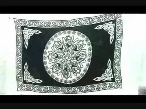 Black And White Circle Celtic Knotwork Sarong Wiccan Pagan Wall Art ...