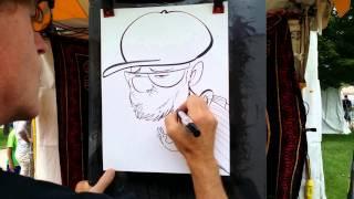 Cartoon of Senior Citizen - Speed Drawing