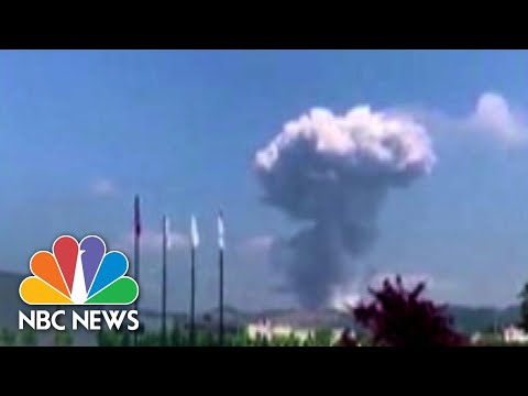 Caught On Camera: Explosions Rock Fireworks Factory!