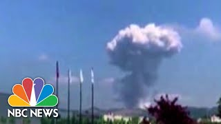 Caught On Camera: Explosions Rock Fireworks Factory In Northwest Turkey | NBC News NOW
