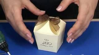 Как сделать коробочку (схема на: www.svadbahit.ru)(Мастер-класс, как сделать коробочку из картона. Выкройку этой коробочки и множества других Вы найдёте на..., 2011-04-30T20:46:29.000Z)