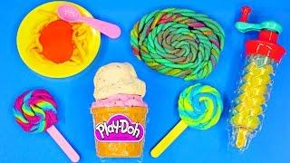 Play Doh Twirl 'n Twister Ice Cream Sweet Shoppe Play Dough Lollipops Plastilina Frozen Barbie
