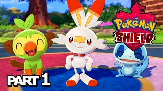 Pokemon Shield LIVE Playthrough Part 1 - Pokemon Sword & Shield Gameplay Walkthrough